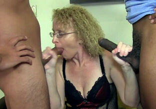 Grandmother  internal cumshot